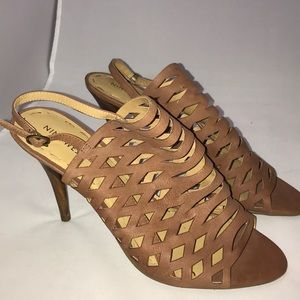 Nine West Mesh Brown & Black Sandal